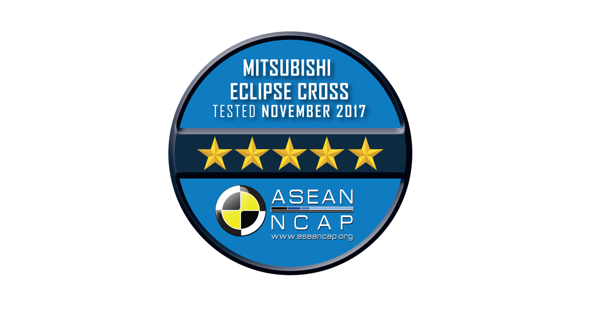 5-Star Safety Rating for Mitsubishi Motors' Eclipse Cross from ASEAN NCAP  ahead of Regional Release