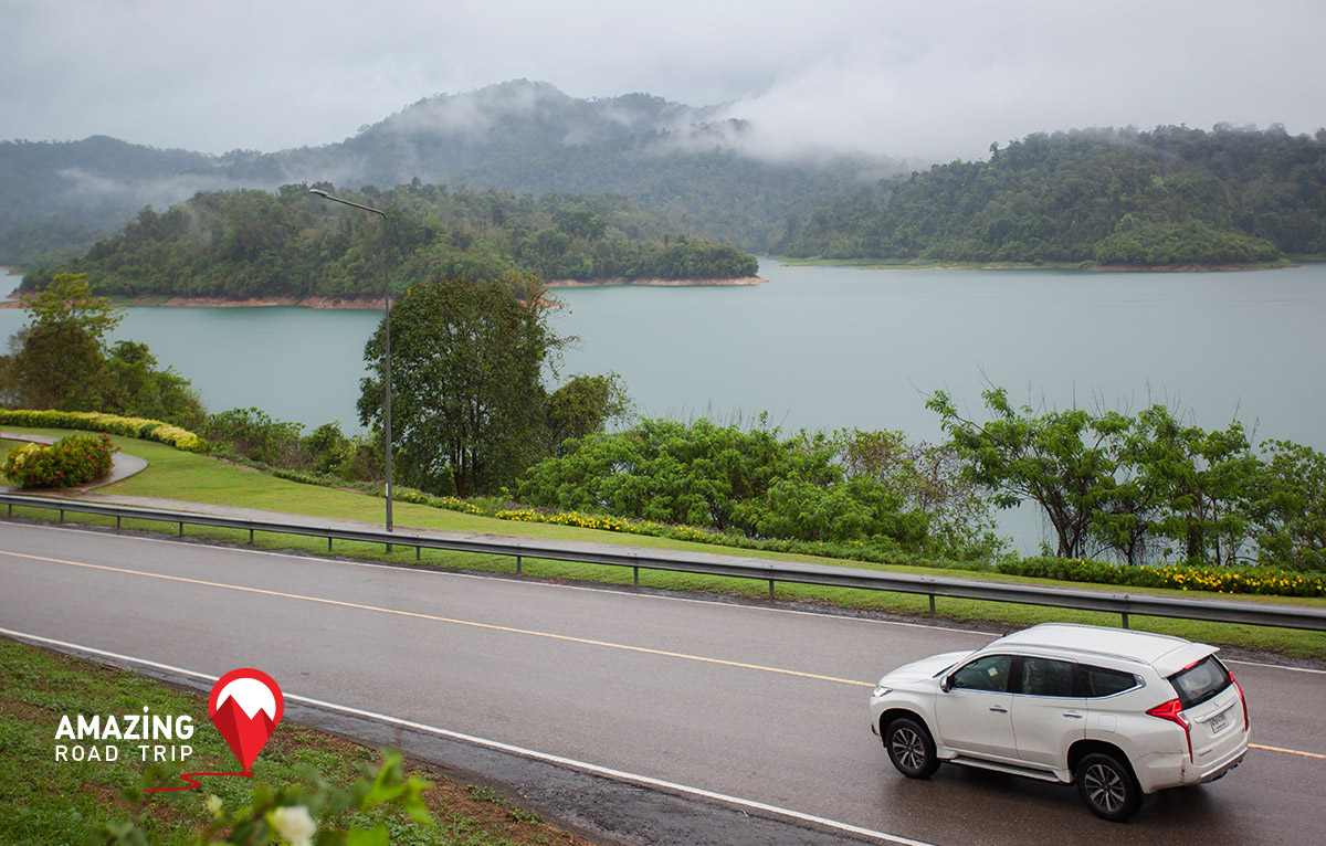 All New Mitsubishi Pajero Sport Be One with Nature at Cheow Lan Dam