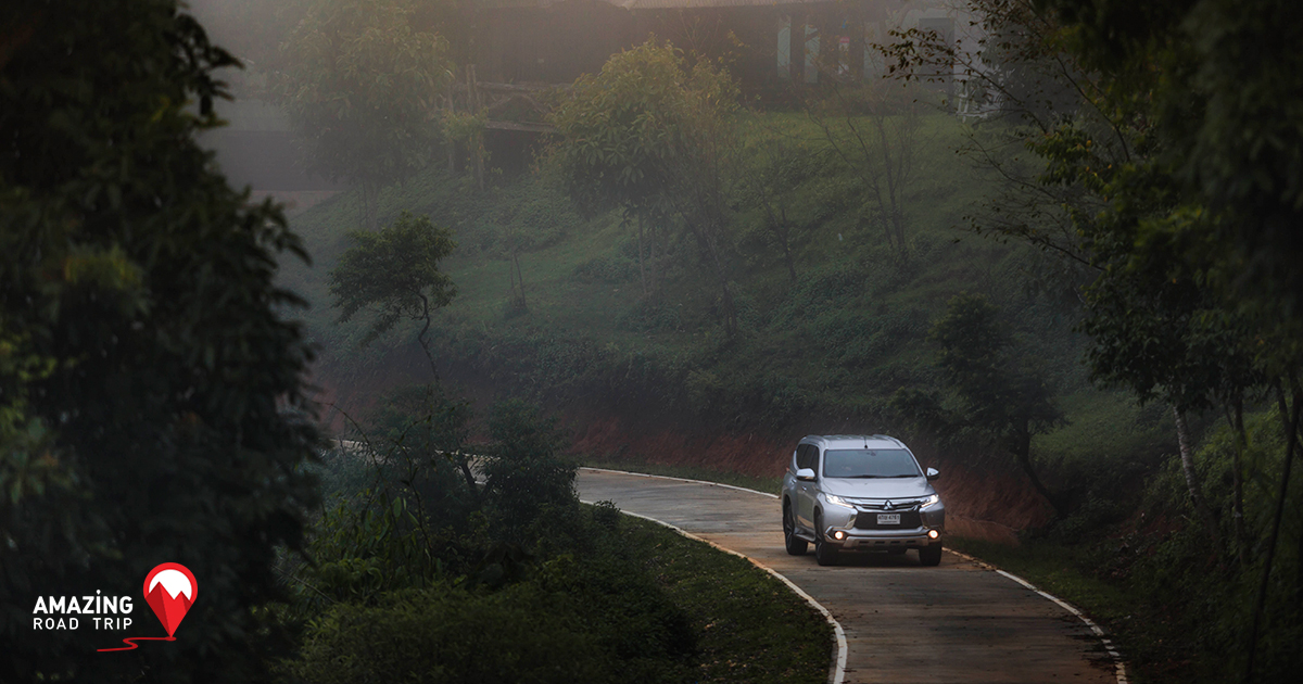 Speed Forward with the All New Pajero sport up Huay Nam Dung and View the Stunning Sea of Mist