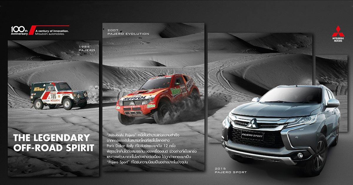 History of Mitsubishi in Paris Dakar Mitsubishi Pajero King of Desert