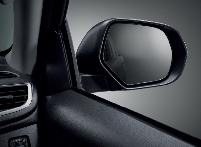 ELECTRONICALLY CONTROLLED AND FOLDABLE DOOR MIRRORS